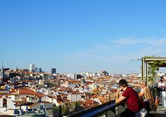 The roof top bar at the Dear Hotel in Madrid, Spain
