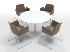ALTEA Sled base easy chair by Inclass Mobles design Jorge Pensi