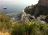 The Italian Amalfi coast. Best of everything..food, water, views and Italians. E 'bellissima!