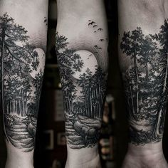 Some kind of a moon tattoo?! Or Alaska? A whale breaching in moonlight? #armtattoos