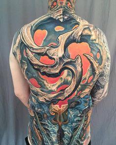Biomechanical Fullback Tattoo - GUY AITCHISON