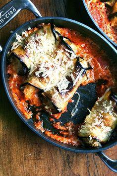 Eggplant involtini - a no pasta veggetarian dish!