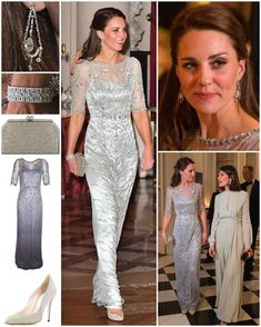 """1,503 Likes, 9 Comments - Catherine Duchess Of Cambridge (@katemidleton) on Instagram: """"The Duchess dazzled in a floor-sweeping $3,800 Jenny Packham gown at the British Embassy last…"""""""