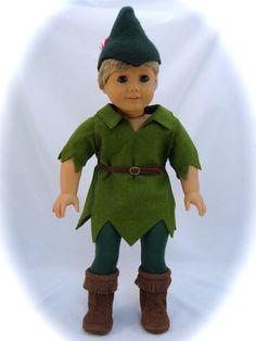 American Girl taille Costume de Peter Pan correspond à des poupées de 18 pouces