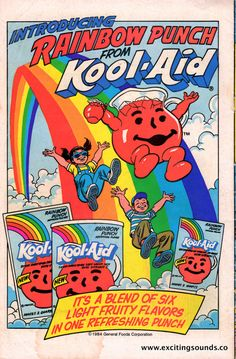 Rainbow Punch from Kool-Aid Cartoon Wallpaper, Trippy Wallpaper, Retro Wallpaper, Hippie Wallpaper, Dark Wallpaper, Bedroom Wall Collage, Photo Wall Collage, Picture Wall, Room Posters