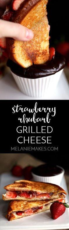 strawberry rhubarb grilled cheese hawaiian bread mascarpone cheese ...