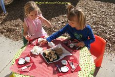 NEW BLOG POST: Montessori Outdoor Classroom: Let's Have A Lady Bug Tea Party!