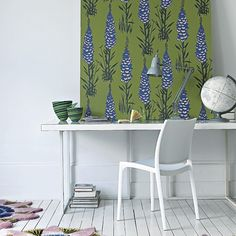 Not able to wallpaper your home? Get around the problem (and save your deposit) by adding wallpaper to plywood panels and leaning them against walls. Not only is it a cheap way of adding colour and pattern to a room, but you can also change your colour scheme as often as you want, or use it to create zones within a bedroom for rest and study.