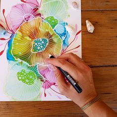 Coral reef on yupo paper. Original alcohol ink art by JulieMarieDesign Doodle Drawing, Doodle Art, Alcohol Ink Painting, Alcohol Ink Art, Watercolor And Ink, Watercolor Flowers, Coral Painting, Original Art, Original Paintings