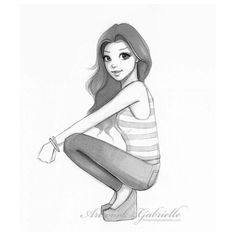 (1) Simple Girl, illustration, drawing / Ragazza Semplice, il… |... ❤ liked on Polyvore featuring art and drawings