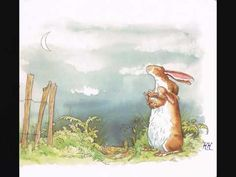 Illustration by Anita Jeram for .Guess How Much I Love You Anita Jeram, I Love You, My Love, Art Lessons, Fairy Tales, My Books, Animation, Painting, Image