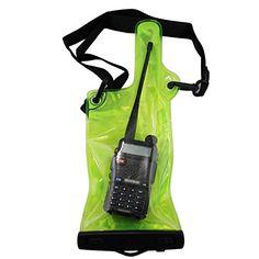 GoodQbuy Walkie talkie case Waterproof Bag with Strap for Motorola Kenwood Icom Yaesu Vertex Standard Baofeng Wouxun Puxing Midland 5 Inch x 138 Inch Twoway Radio *** Visit the image link more details. Note:It is affiliate link to Amazon.
