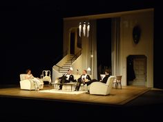 Design For Living. Salisbury Playhouse Alex Eales set design. 2012