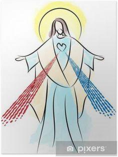 Jesus Ressuscité, Jesus Art, Jesus Drawings, Easy Drawings, Catholic Art, Religious Art, Gardian Angel, Jesus Christ Painting, Religion