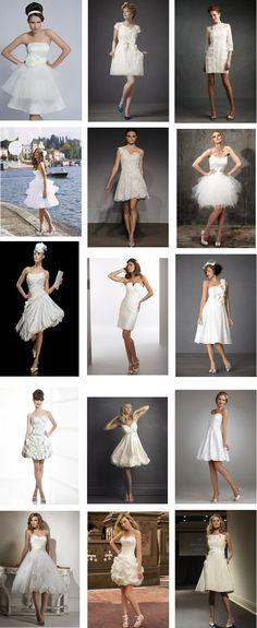 Short wedding dresses 3.