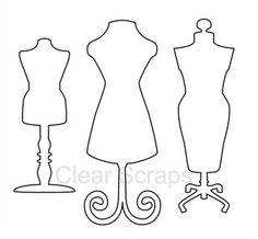 Paper Dress Template   Clear Scraps Blog: September 2011