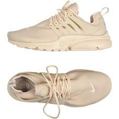 Nike Low-tops & Sneakers (5,875 DOP) ❤ liked on Polyvore featuring shoes, sneakers, beige, nike, beige flat shoes, flat sneakers, nike footwear and round cap