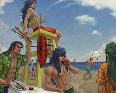 Aldebaran, Camus, Milo and Camus All Anime, Otaku Anime, Anime Manga, Knights Of The Zodiac, Jojo's Bizarre Adventure Anime, Moon Princess, Lost, Virgo Zodiac, Cute Anime Boy