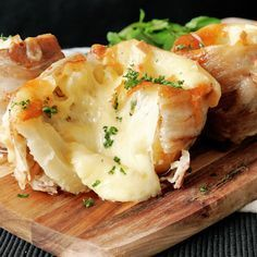 Filled with cheese and wrapped in bacon is the tastiest way to enjoy spuds.