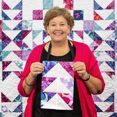 For fans of romantic tales and stunning quilts, we present the Star Crossed Quilt! This dynamic pattern comes together with nine patch and flying geese blocks, and is as pretty as a Shakespearean sonnet! Click the link to watch the free quilt tutorial! Big Block Quilts, Star Quilts, Easy Quilts, Quilt Blocks, Msqc Tutorials, Quilting Tutorials, Quilting Projects, Missouri Quilt Tutorials, Flying Geese Quilt