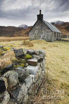 Old Stone Cottage by Iain Sarjeant with Pin-It-Button on FineArtAmerica