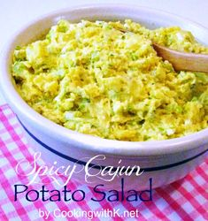Southern | Cooking with K: Spicy Cajun Potato Salad {A Different Twist on Potato Salad}