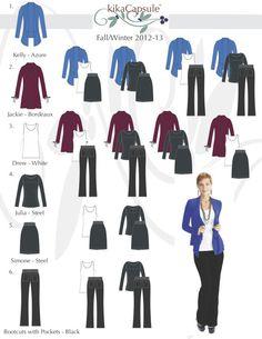 Capsule wardrobe - blue, purple, gray
