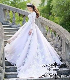 Princess Islamic Arabic A Line Wedding Dresses 2018 Illusion Long Sleeves 3D Floral Vintage Lace Plus Size Turkey Lebanon Dubai Bridal Gowns Islamic Wedding Dresses A Line Wedding Dresses 2018 Wedding Dresses Online with $343.75/Piece on In_marry's Store   DHgate.com