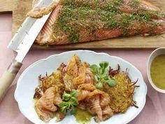 Graved Lachs mit Honig-Senf-Sauce
