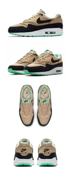 Air Max 1s, Nike Air Max, Best Sneakers, Custom Sneakers, Nike Air Shoes, Fresh Shoes, Hype Shoes, Retro Shoes, Mint Green