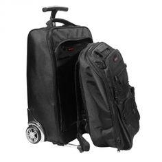 Promate VoyageDuo супер-функциональная сумка-тележка на колесах с пристежным рюкзаком, 2-в-1.