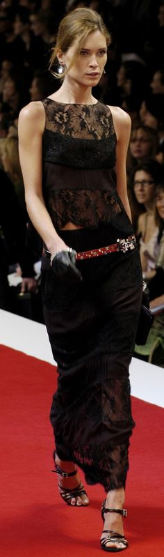 Chanel ~ Black Lace Top/Skirt