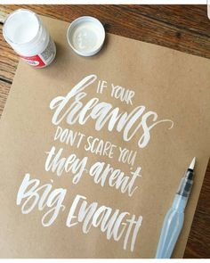 858 Best Lettering - Inspirations und Tipps images in 2020 Lettering Brush, Creative Lettering, Lettering Design, Calligraphy Letters, Typography Letters, Typography Quotes, Typography Inspiration, Modern Calligraphy Quotes, Hand Lettering Quotes