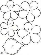 Картинки по запросу цветы из ткани выкройки