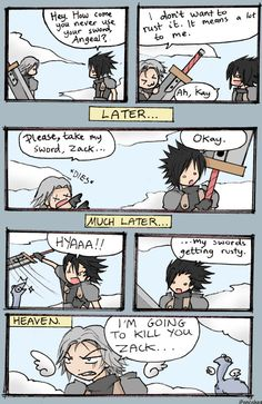 Crisis Core: comic by iPancakes.deviantart.com on @deviantART