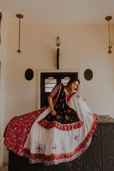 Raas The Global Desi lehenga Indian dress chaniya choli gown saree - Rug Lehenga Choli, Lehenga Indien, Garba Chaniya Choli, Garba Dress, Navratri Dress, Lehnga Dress, Indian Lehenga, Chaniya Choli For Navratri, Salwar Designs