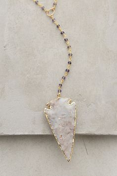 Agate Arrowhead Necklace #anthropologie