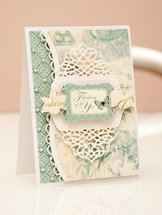 cards made with spellbinders tranquil moments - Google Search