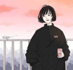 Art Sketches, Art Drawings, Character Art, Character Design, Anime Expressions, Illustration Girl, Anime Art Girl, Girl Cartoon, Aesthetic Art