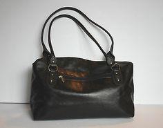 Danier Italian Leather Black Shoulder Hobo Slouchy Bag Purse