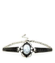Silver White Stone Arm Cuff