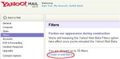Best Support for Using Filters in Yahoo Mail