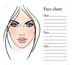 Face Templates For Makeup Artist: Face Chart Makeup Artist Blank  Template… Lip Makeup, Makeup Tips, Beauty Makeup, Makeup Palette, Eyeshadow Palette, Makeup Storage Drawers, Make Up Gesicht, Lip Balm Labels, Face Template