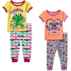 a46c6861f8 Garanimals - Newborn Baby Girl Tight-fit C - Walmart.com. Girls PjsCotton  ...