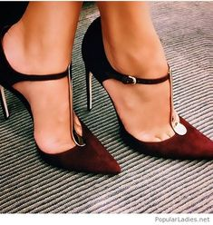 Awesome burgundy velvet shoes