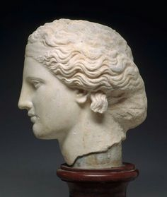 Marble head of a statue of Dionysos. Greek. Classical or Hellenistic Period, c. 340 B.C. | Museum of Fine Arts, Boston