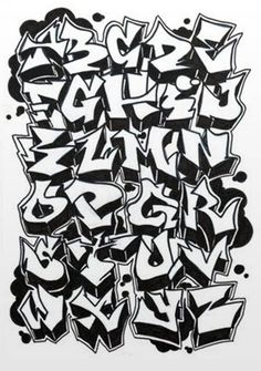 This is a sketch graffiti alphabet. Examples to create graffiti art on the walls. Graffiti alphabet uppercase letters from A to Z. Graffiti Text, Street Art Graffiti, Graffiti Lettering Fonts, Tattoo Lettering Fonts, Best Graffiti, Graffiti Tagging, Graffiti Drawing, Creative Lettering, Lettering Design