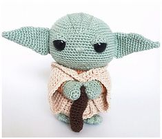 Make your very own super cute yoda doll with this easy to follow crochet pdf pattern