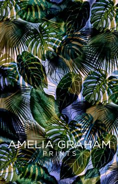Tropical Print // Amelia Graham more colors and textures Motifs Textiles, Textile Prints, Textile Patterns, Print Patterns, Textile Design, Illustration Arte, Flora Und Fauna, Tropical Style, Tropical Prints