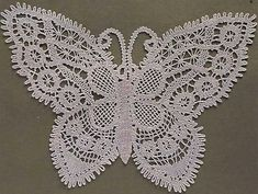 beautiful bobbin lace butterfly from 101 motifs- Picasa Web Albums